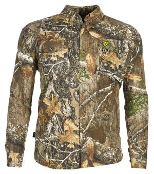 Fused Cotton Button Up Shirt-Realtree Edge-Medium