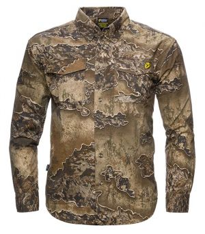 Fused Cotton Button Up Shirt-Realtree Excape-Medium