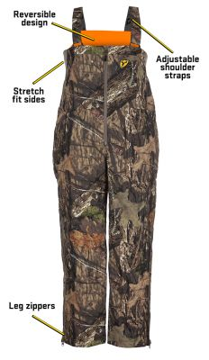 Shield Series Evolve Reversible Bib-Mossy Oak Break-Up Country & Blaze-Medium