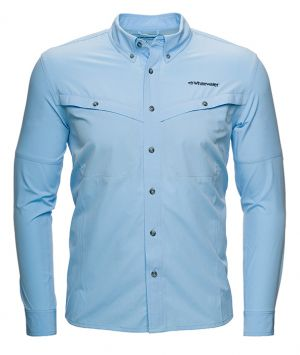 Whitewater Rapids Long Sleeve Fishing Shirt-Blue Bell-Small