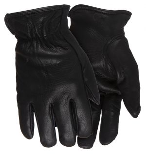 Whitewater Thinsulate Deerskin Gloves-Black-Small