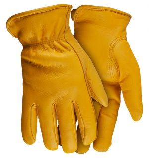 Whietwater Thinsulate Deerskin Gloves-Natural-Small