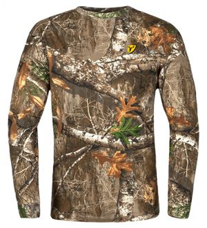 Youth Fused Cotton L/S Top-Realtree Edge-Small