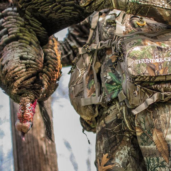 Kenny Davis turkey hunting with Blocker Outdoors finisher vest