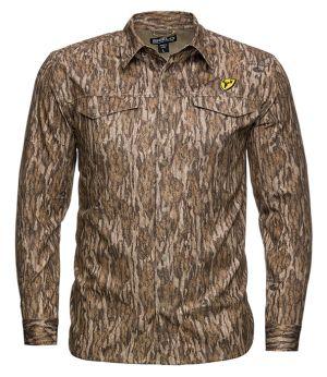 Shield Series Angatec Snap Shirt-Mossy Oak New Bottomland-Small