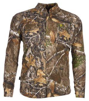 Fused Cotton Button Up Shirt-Realtree Edge-Medium
