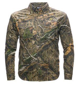 Shield Series Fused Cotton Ripstop Field Shirt -Mossy Oak DNA-Medium