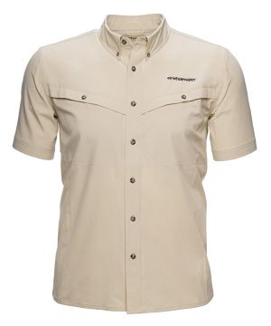 Whitewater Rapids Short Sleeve Fishing Shirt -Oxford Tan-Small