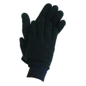 Fleece Liner Glove-L-BLACK
